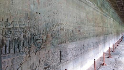 Scenes from the life of King Suryarvarman II on western wall
