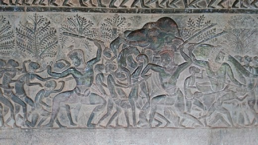 Scenes from the 37 heaens and 32 hells in the Indian tradition