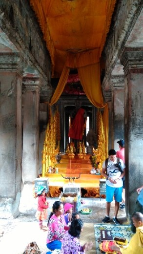 A shrine at the lower level