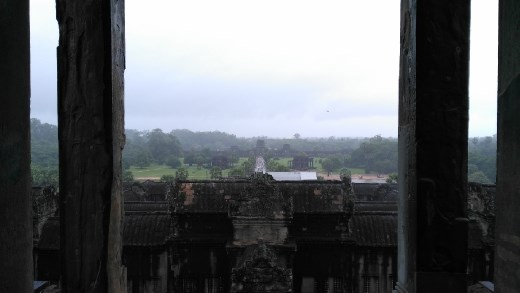 The upper level of Angkor Wat - A view of entrance