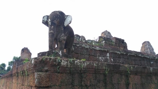 Elephant on first level of East Mebon