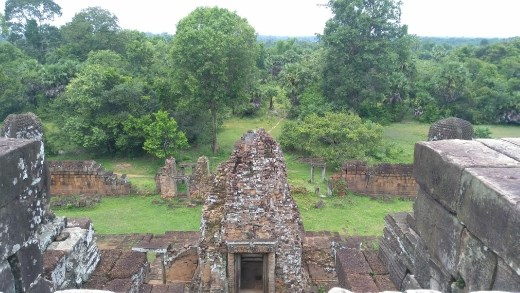View from top of East Mebon