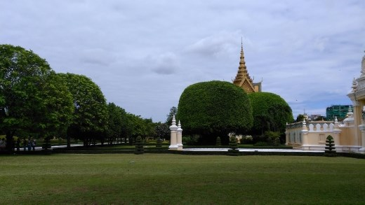 The Royal Palace grounds with Victory Gate in the background