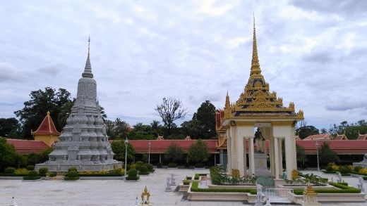 Stupa and Statue of King Norodom