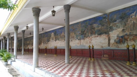 Mural on palace walls