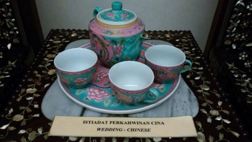 Textiles Museum - Chinese style weddind cups