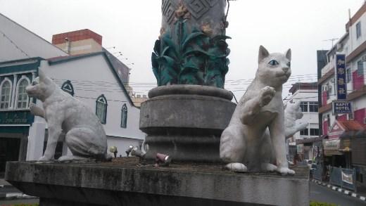 More cat statuesin Kuching