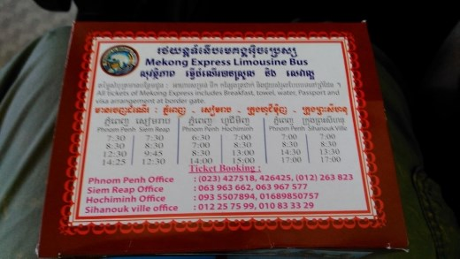 Free food on Mekong Express to HCMC