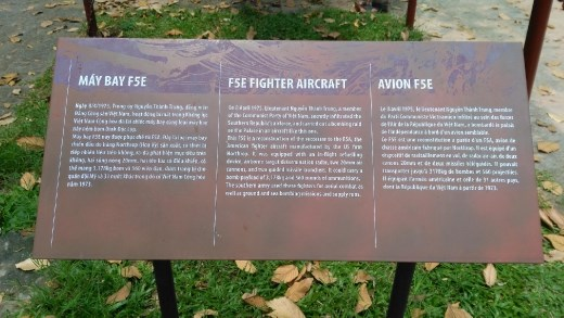 Description of the F5E that attacked the palace during Vietnam War