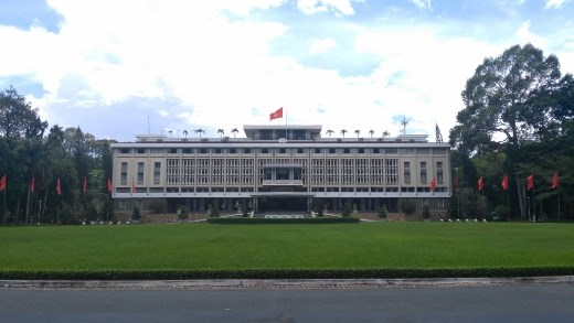 Front view of The Independence Palace