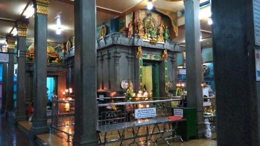 Inside Mariamman Hindu Temple