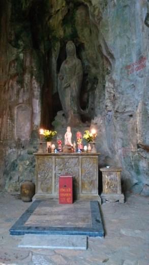 Goddess of Mercy inside Huyen Khong Cave
