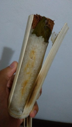 Yummy bamboo rice - peeled