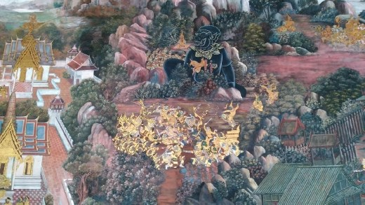 Grand Palace - Ramakien scenes on cloisters