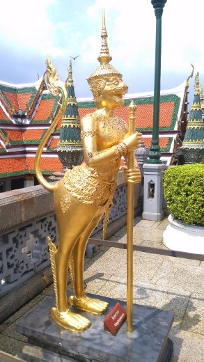 Grand Palace - Mythical creatures near Phra Sri Ratana Chedi