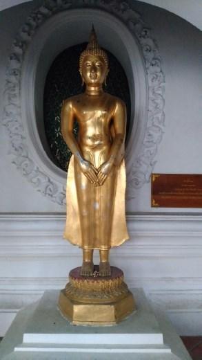 Phra Pathom Chedi School - Cloister with Buddha statue gazing at the Bodhi tree