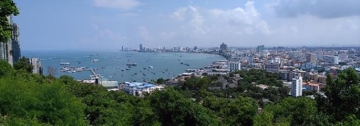 View of bay from Pattaya Hill