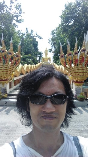 Wat Phra Khao Yai - Me at bottom of stairs