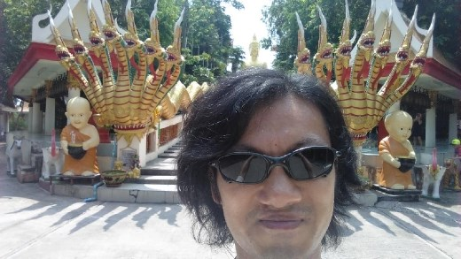 Wat Phra Khao Yai - Me at bottom of stairs