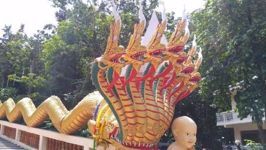 Wat Phra Khao Yai - Close-up of Naga