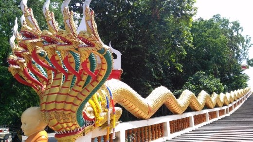 Wat Phra Khao Yai - Close-up of Naga