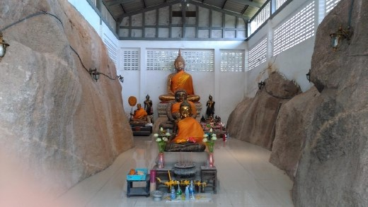 Main shrine at Wat Khao Takiap