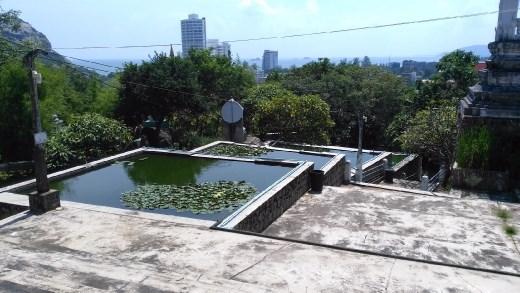 Water garden in Wat Khao Takiap