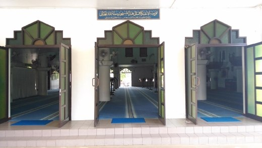 Entrance to Masjid Tengku Tengah Zaharah