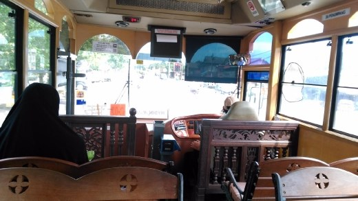 Inside Cas Liga bus