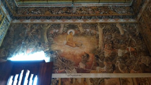 Mural in left chamber of Kelaniya Raja Maha Vihara