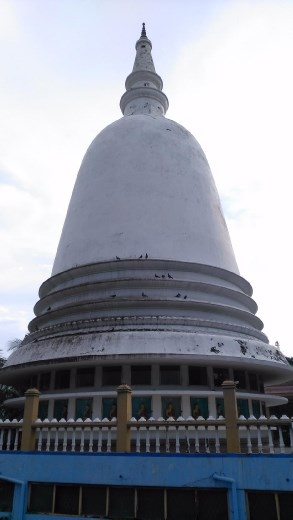 Some stupa in the middle of the city