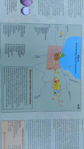 Map of Polonnaruwa