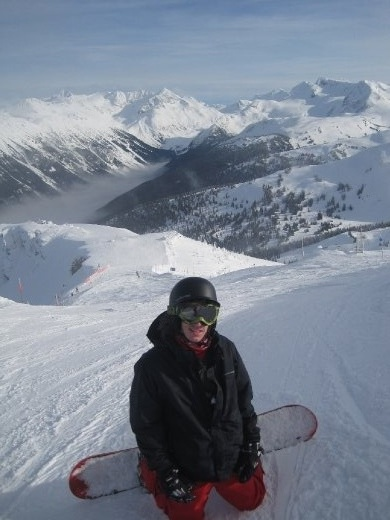 My brother on his snowboard in Whistler