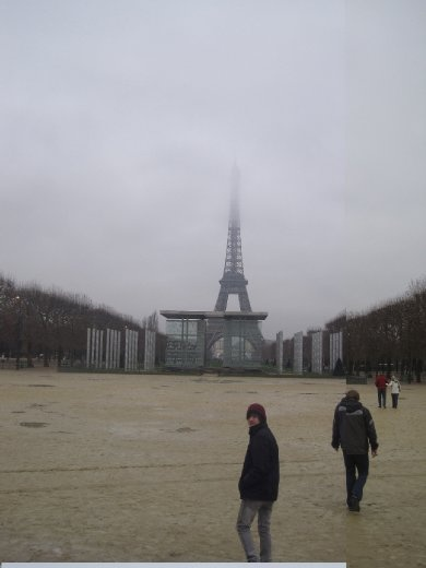 Paris :) Eiffel tower in the clouds