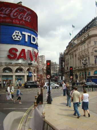 Piccadilly Circus (their version of Times Square)