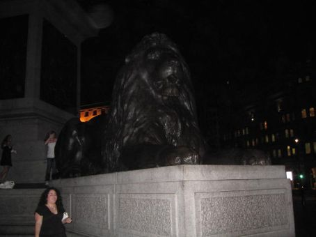 A giant lion in a giant square