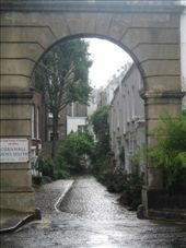 The big archway is called a mews and it is where the stables and carriages used to be stored.: by mademal, Views[114]