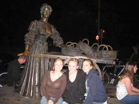 Molly Malone, sold cockles and mussels in the day and was a prostitute at night. A bit of a Dublin heroine.