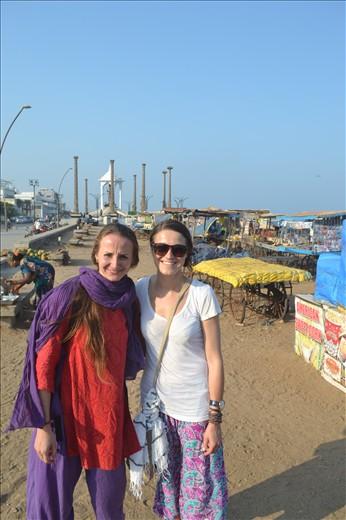 Pondicherry with my cousin Karolina!