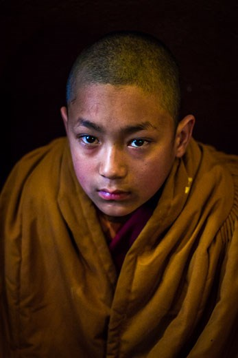 Novice monk at the Baudhanath Temple