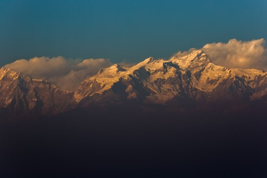 A view of The Annapurna's range