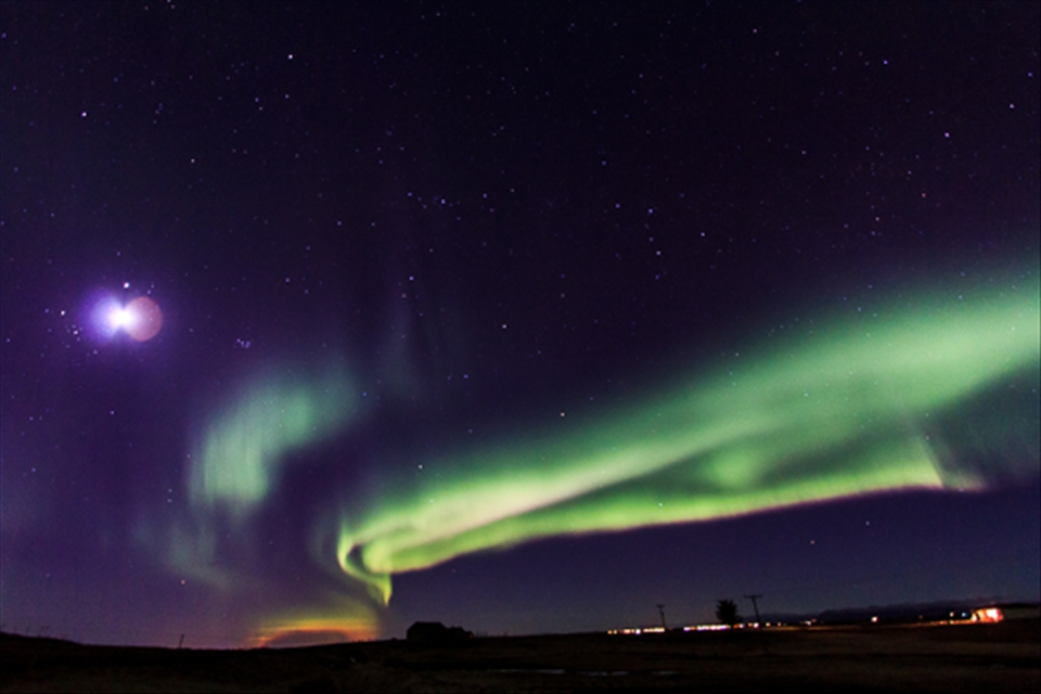 And the curtain falls, Northern Lights near Akranes route 502