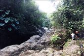 Steep and slippery rocks mark the mountain trail into the heart of Purto Rico: by makaman, Views[79]