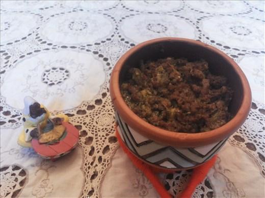 Jundo served in a pot