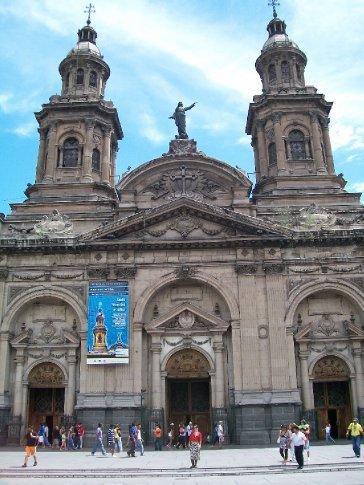 Mini-amandita e a catedral de Santiago