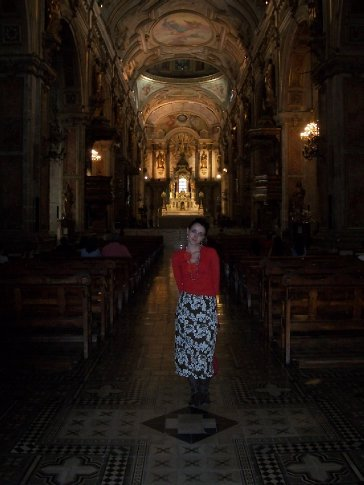 No meio da catedral