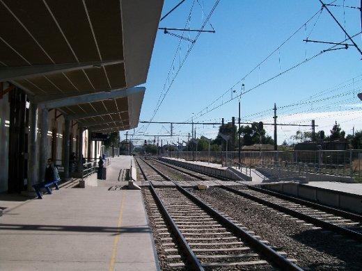 Dia 18: Na estação San Fernando, esperando o trem para Rancagua.