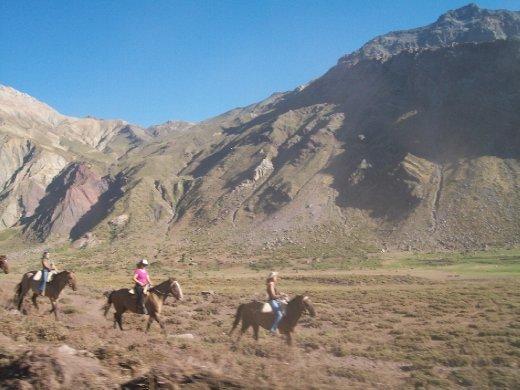 Cavalgadas, uma das poucas coisas a se fazer em Termas del Flaco, rs...