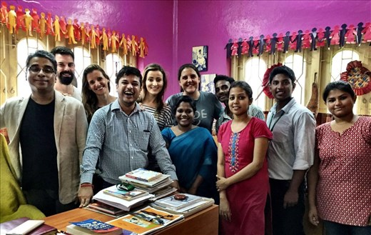 El equipo de Prayasam y AdC, trabajando por el futuro de los niños de NPS.