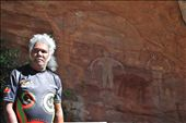 One of the Elders takes us to the Split rock site of the cave paintings.: by margie, Views[263]